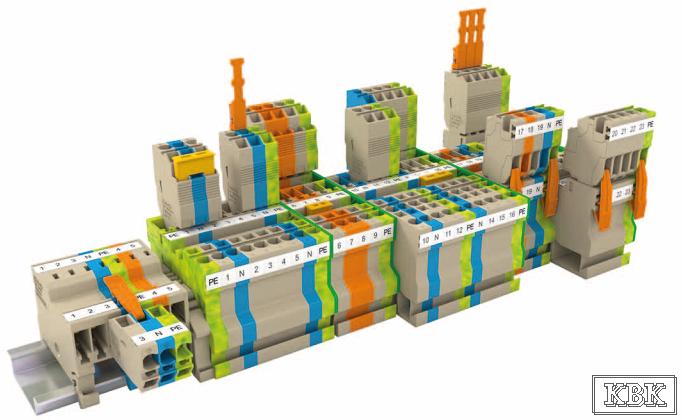 Штекерные клеммы ZST с пружинным соединением проводников