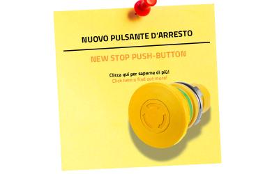 Нова кнопка аварійної зупинки – у жовтому виконанні